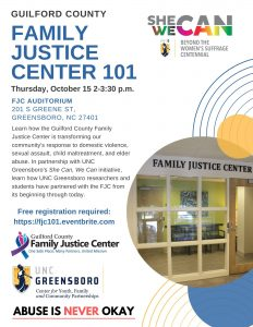Family Justice Center 101 Flyer