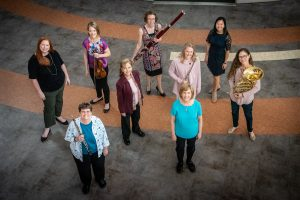 Nine female musicians from School of Music