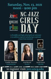 Poster for NC Jazz Girls Day