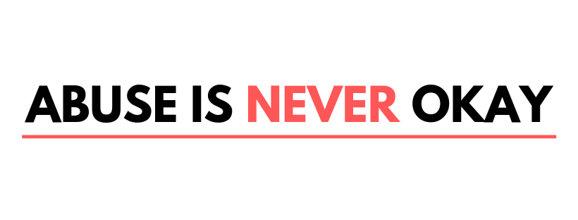 Logo with words Abuse is Never Okay campaign