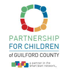 Partnership for Children of Guilford County logo colorful circle