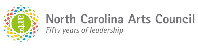 NC Arts Council Logo-colorful circle with word arts in the middle