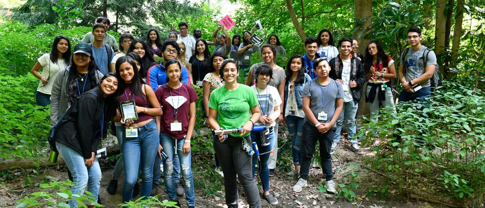 Group photo of students taking a tour