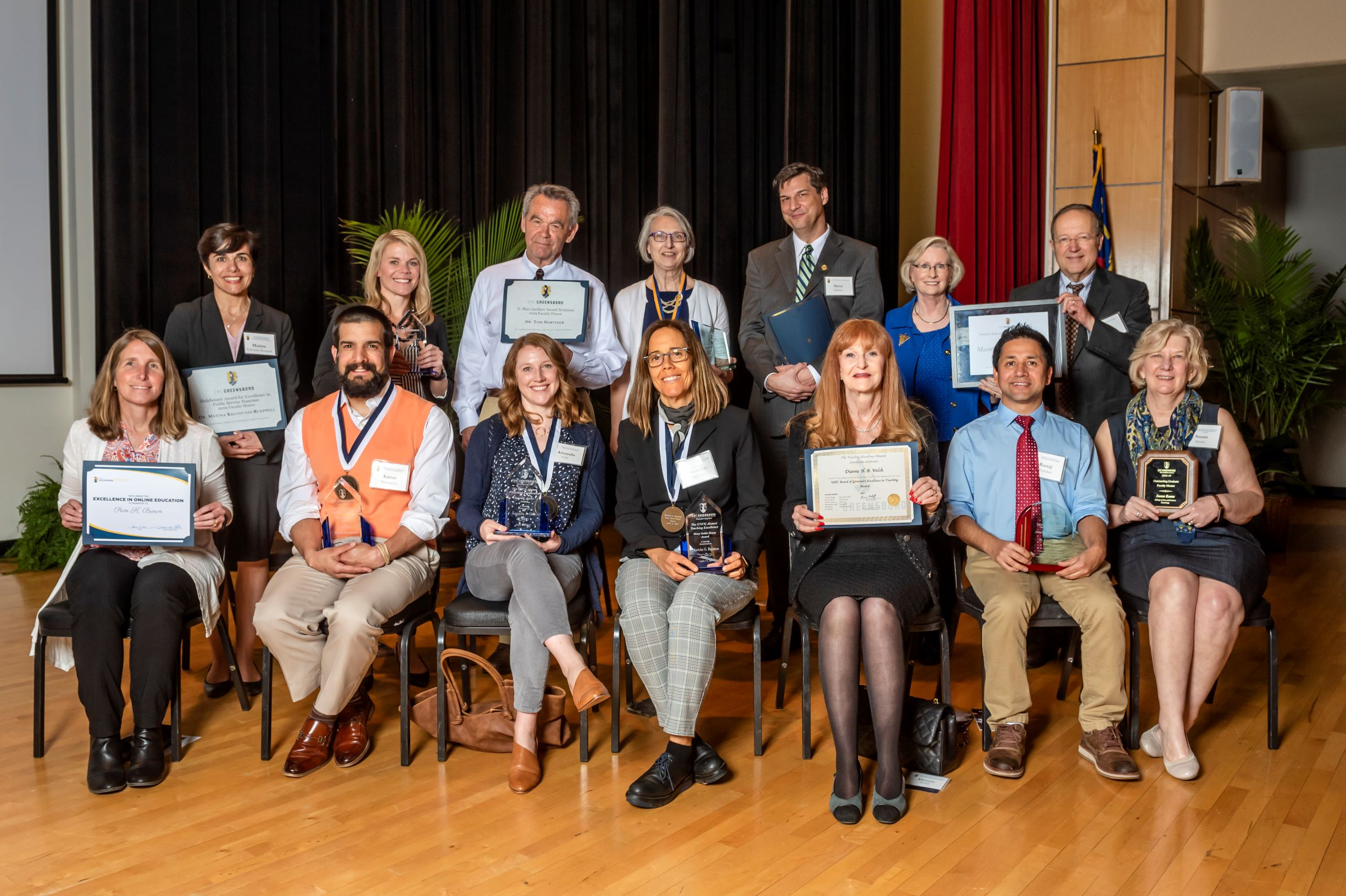 Group Picture of Faculty Excellence Award Recipients