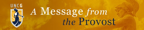 banner for Provost's msgs