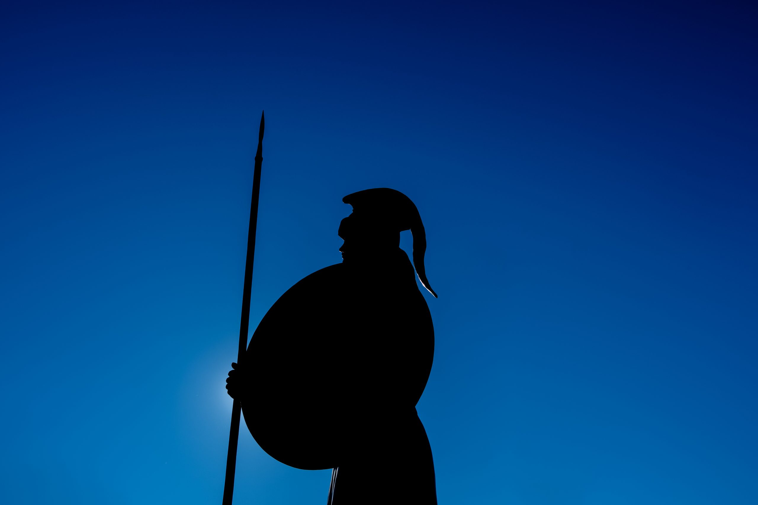 Silhouette of Spartan